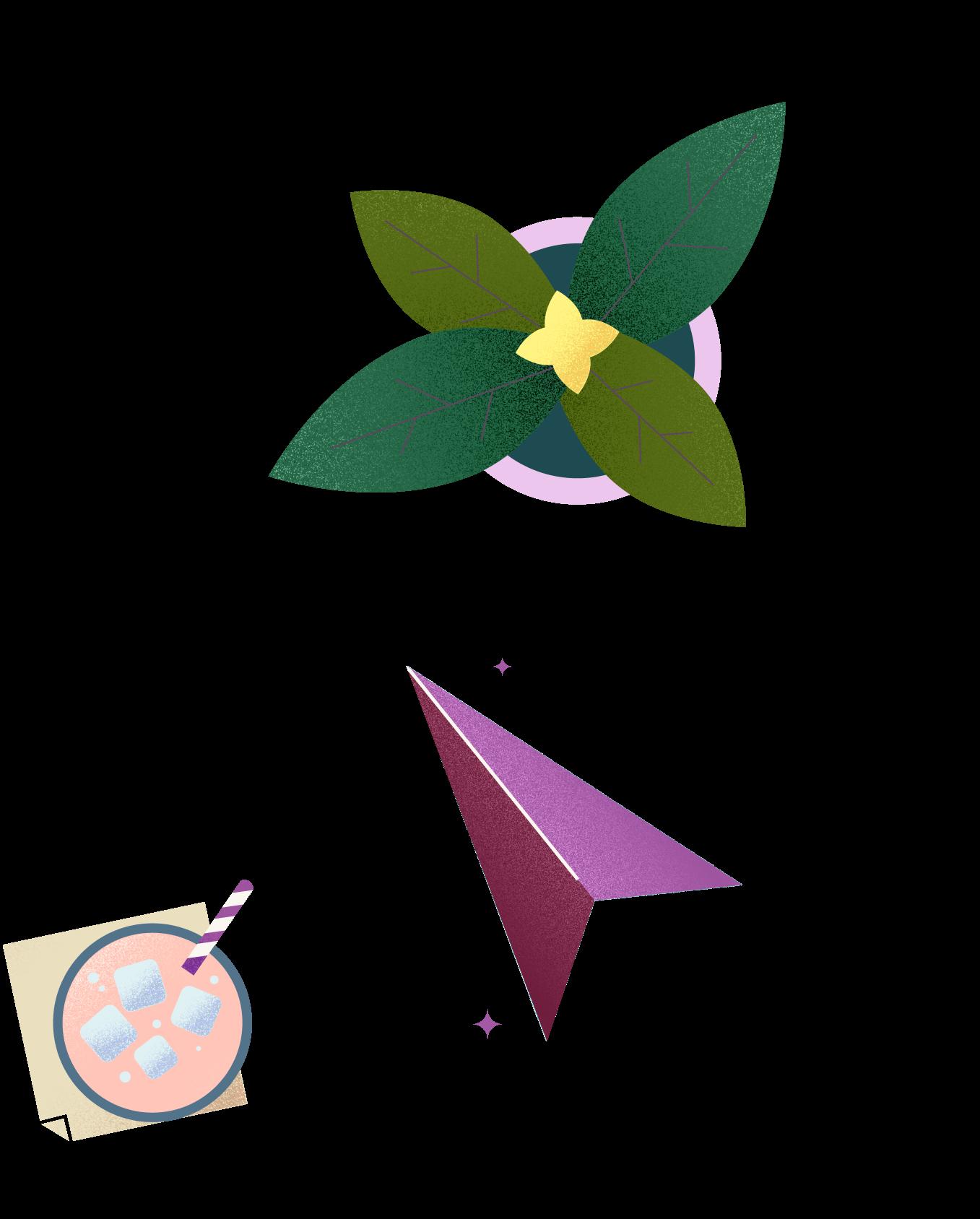 plant arrow hot chocolate illustration