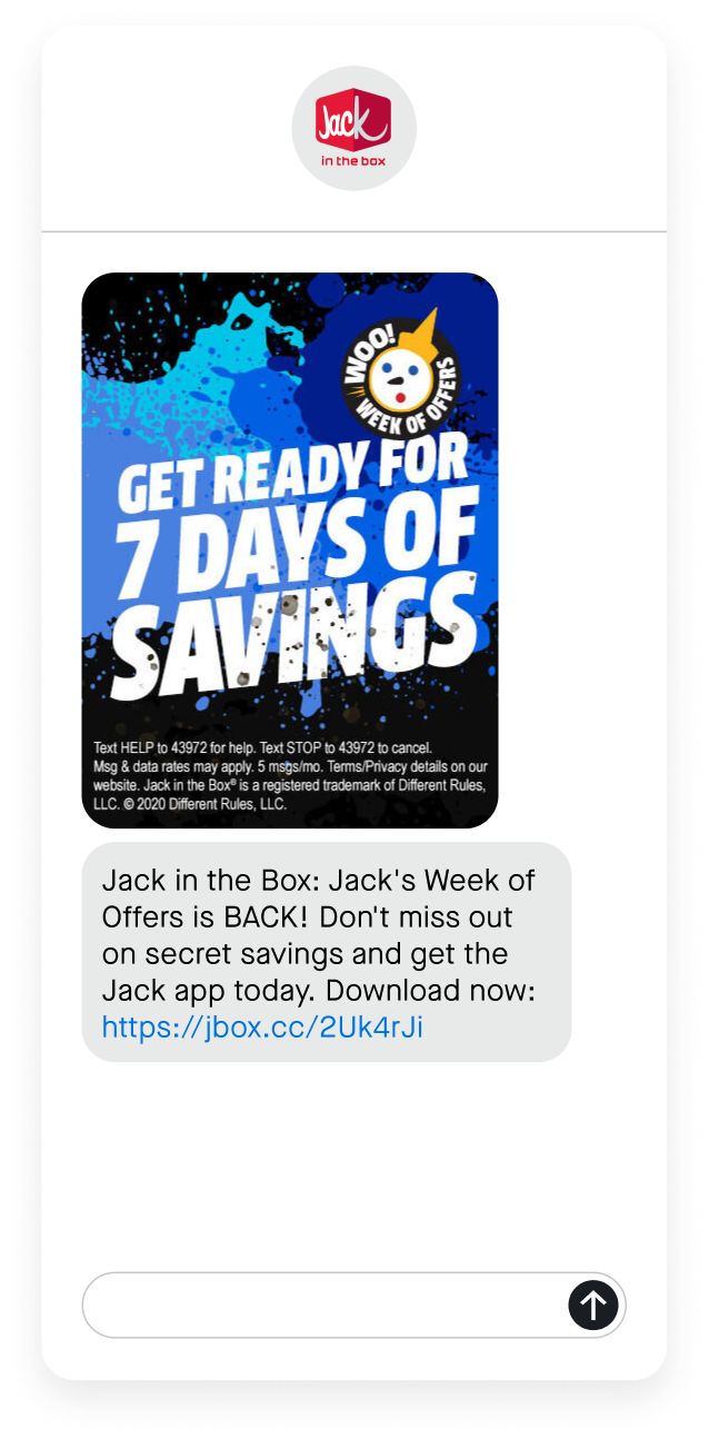jack in the box download text message phone