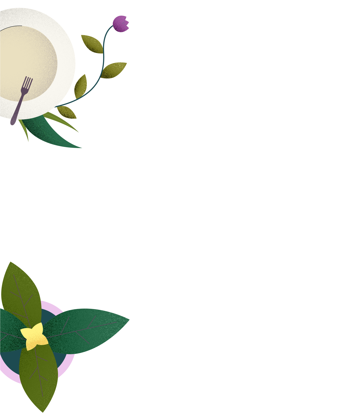 flower and coffee illustration