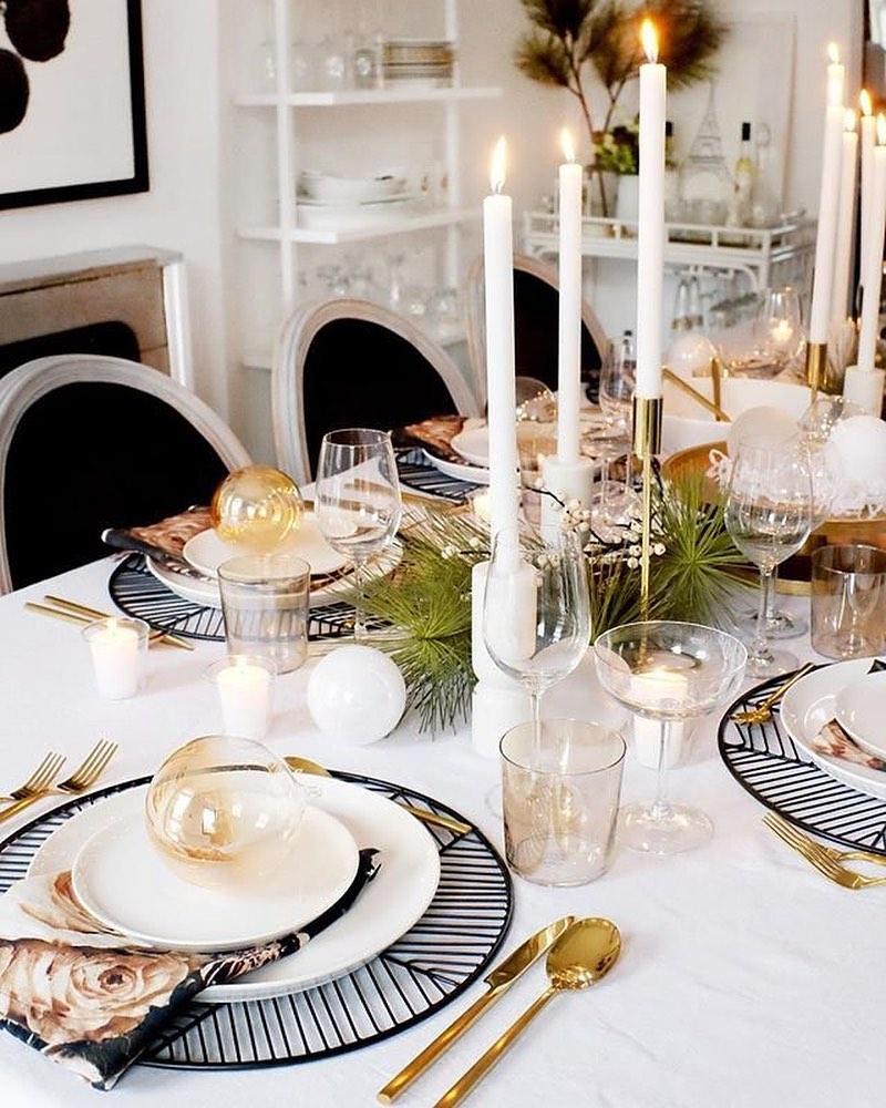 CB2 dinner table scene
