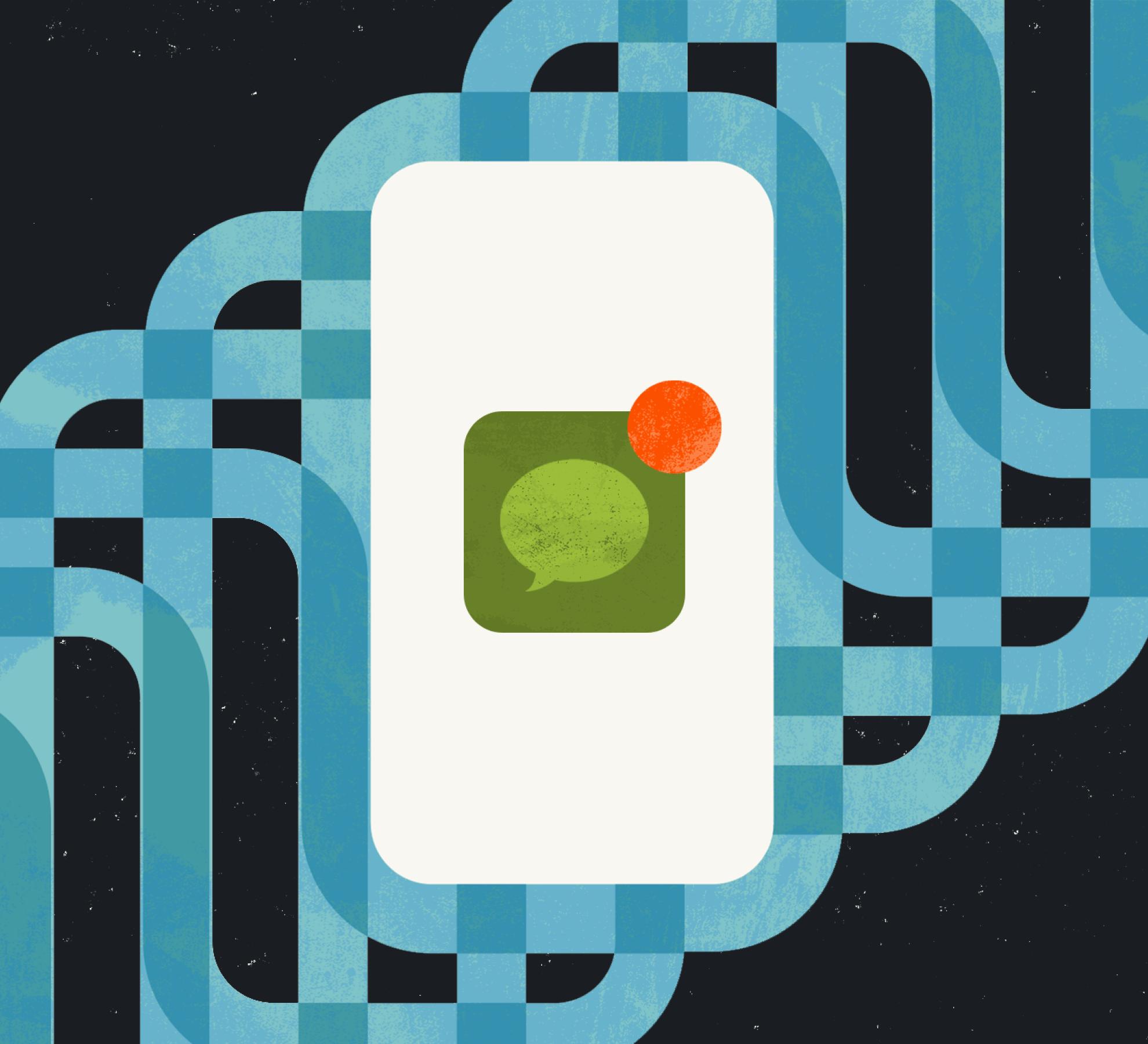SMS notification illustration