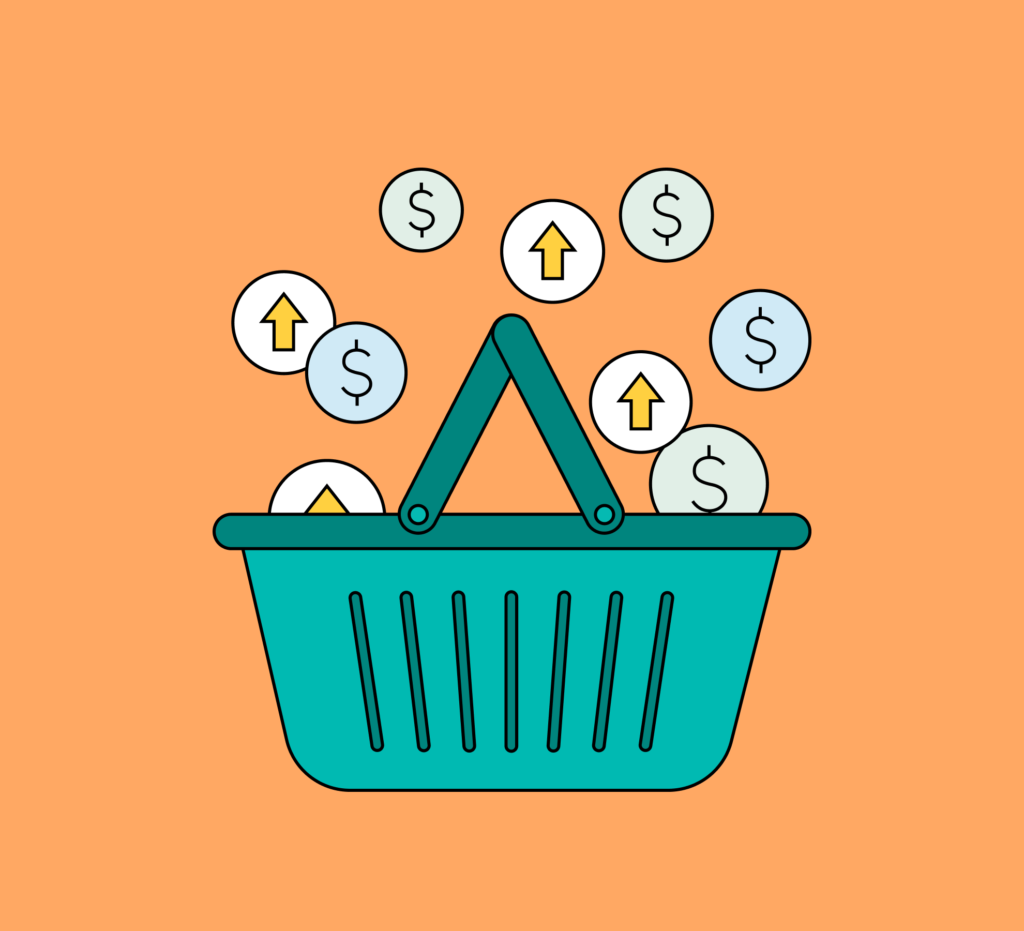 Shopping basket illustration
