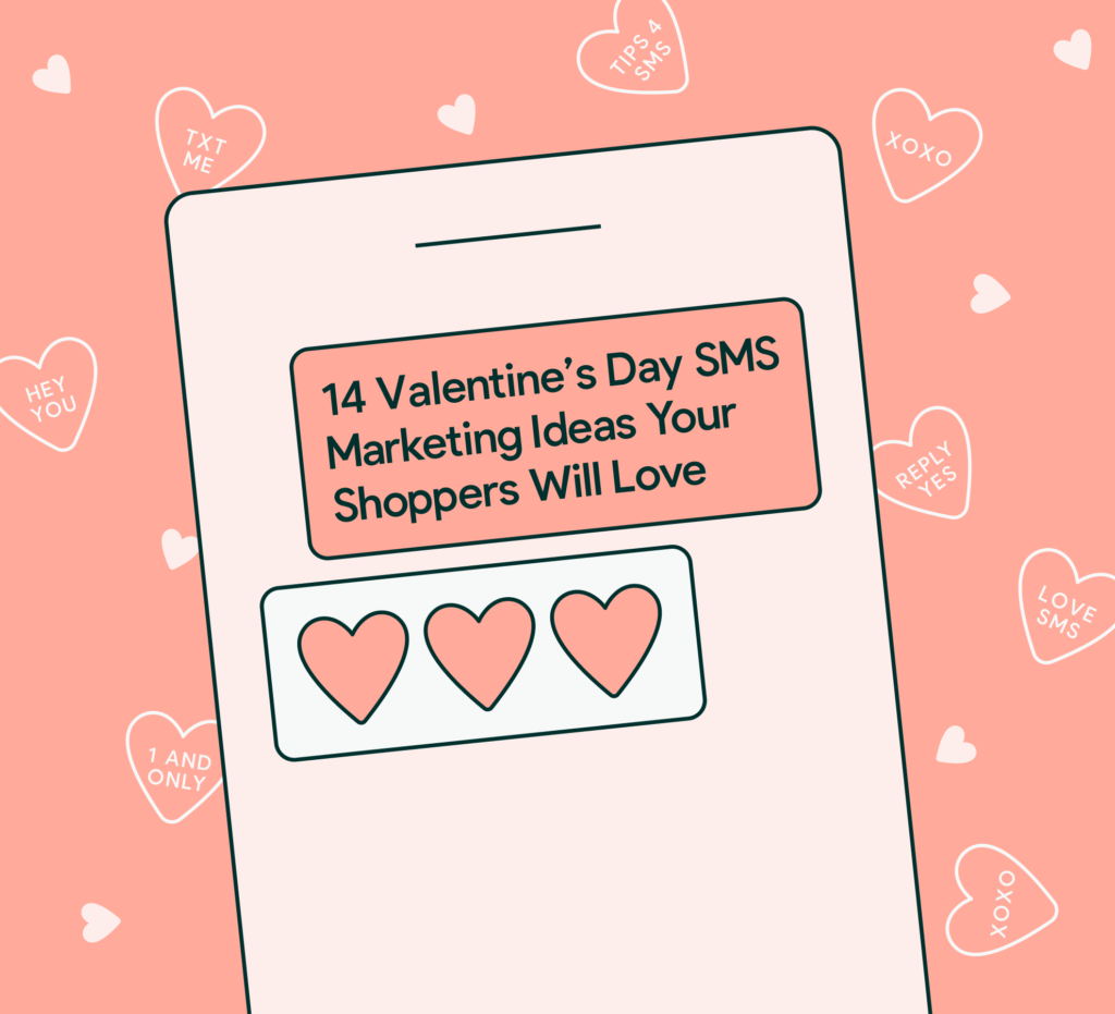 Valentines Day SMS ideas graphic