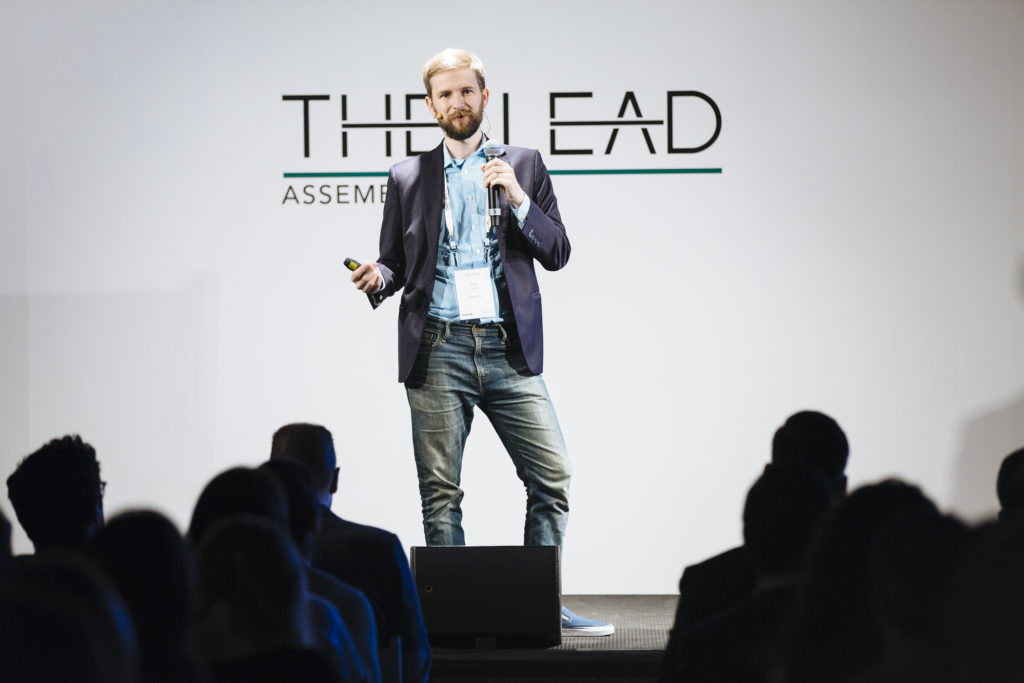 Brian Long, CEO and Co-Founder of Attentive, presenting at The Lead Assembly event in NYC on June 21, 2018