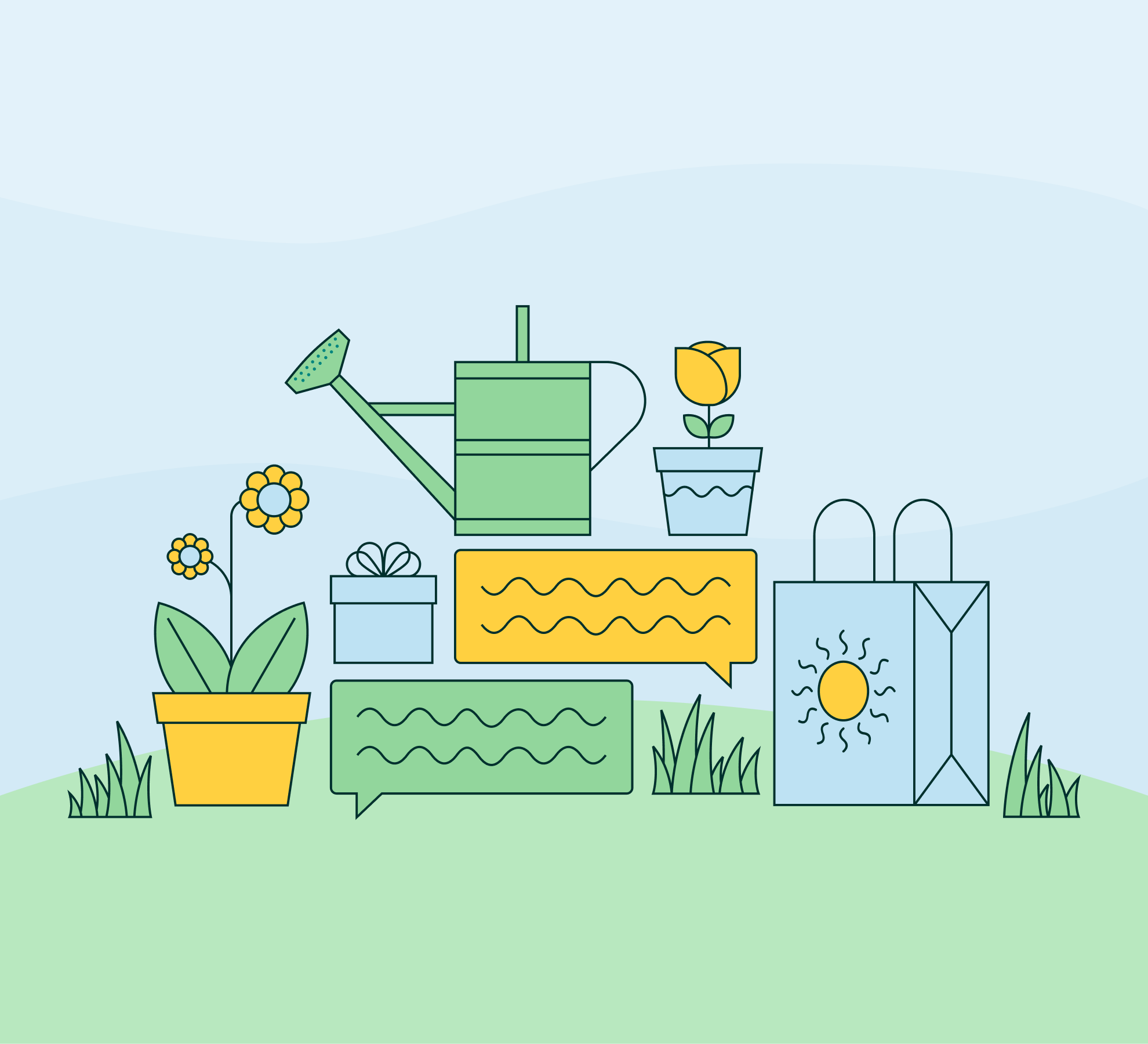 spring garden graphic