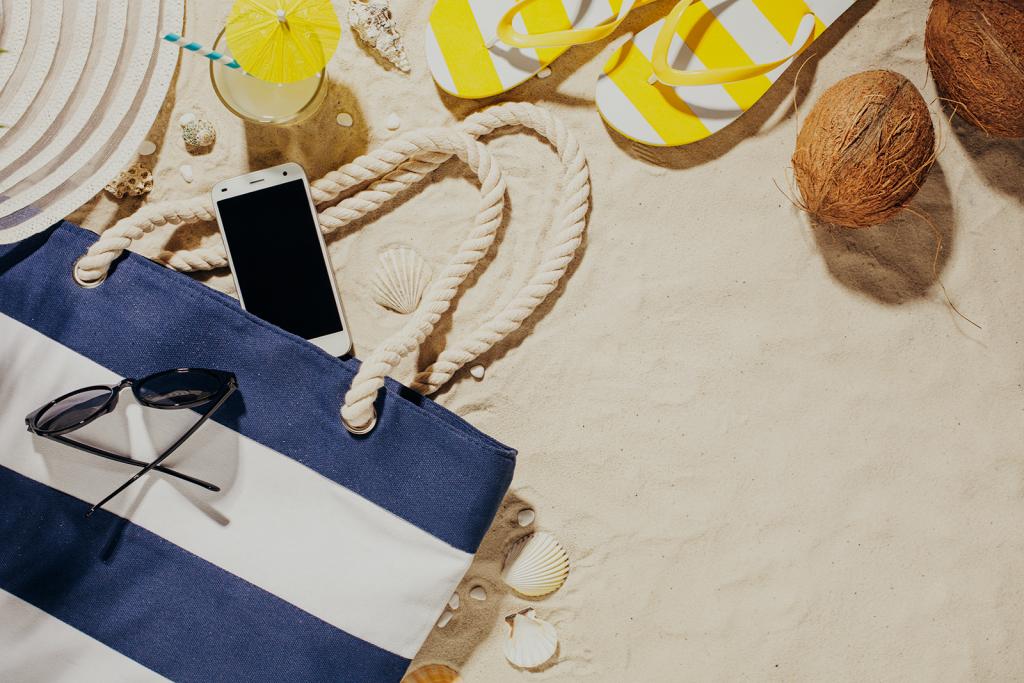 beach bag sunglasses photo