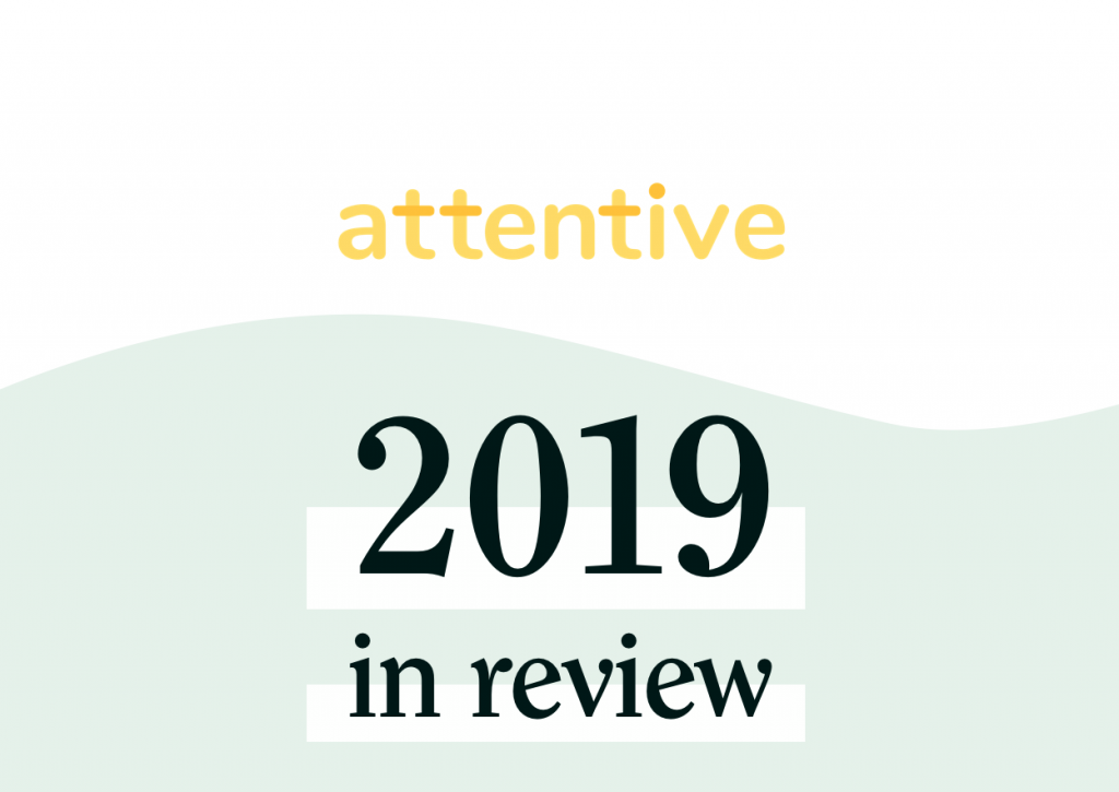 Attentive 2019 in review graphic