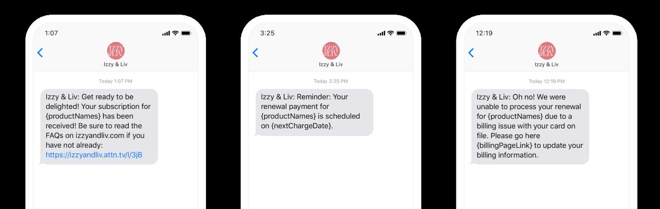 Izzy and Liv transactional journeys mock