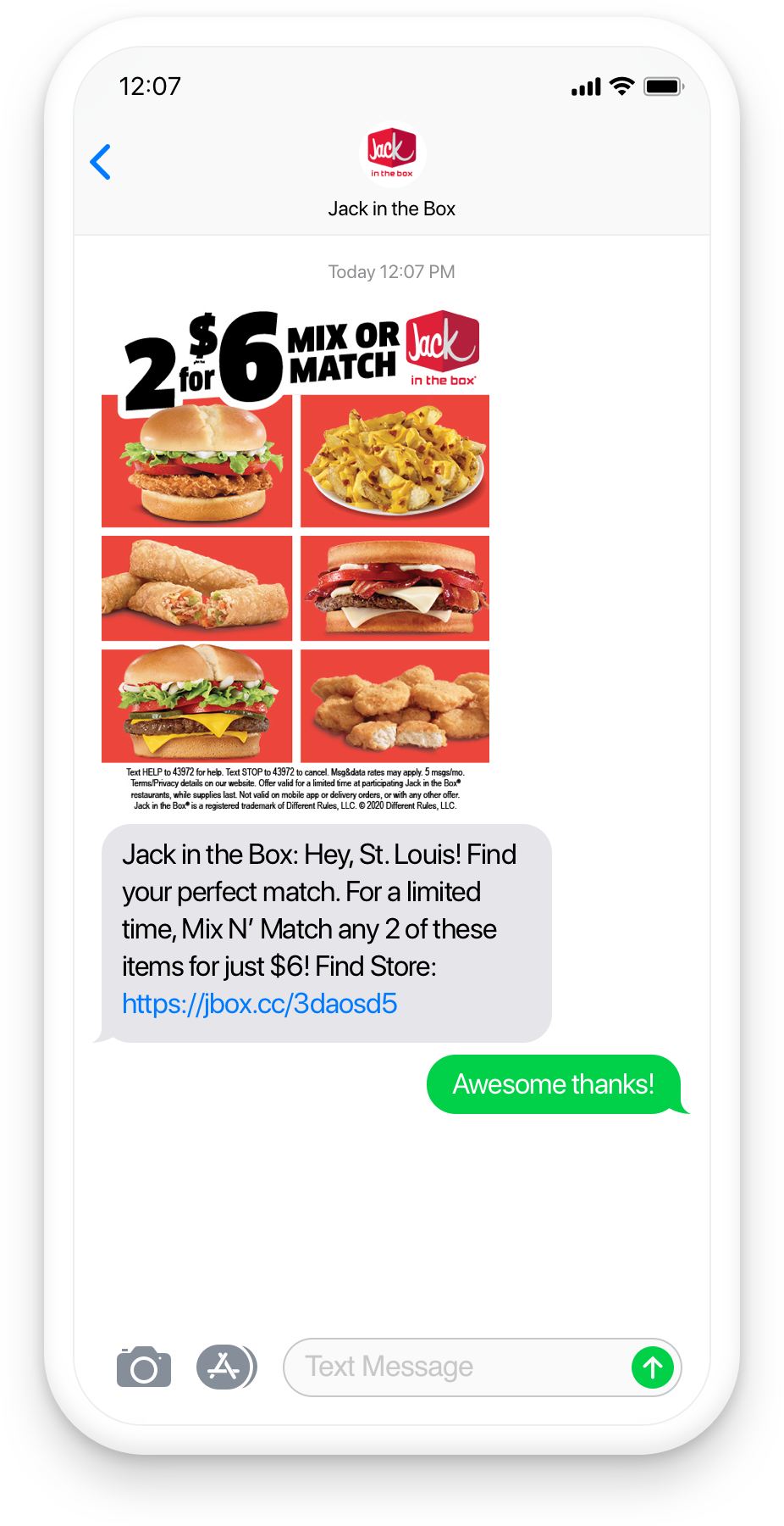 jack in the box segmentation mock