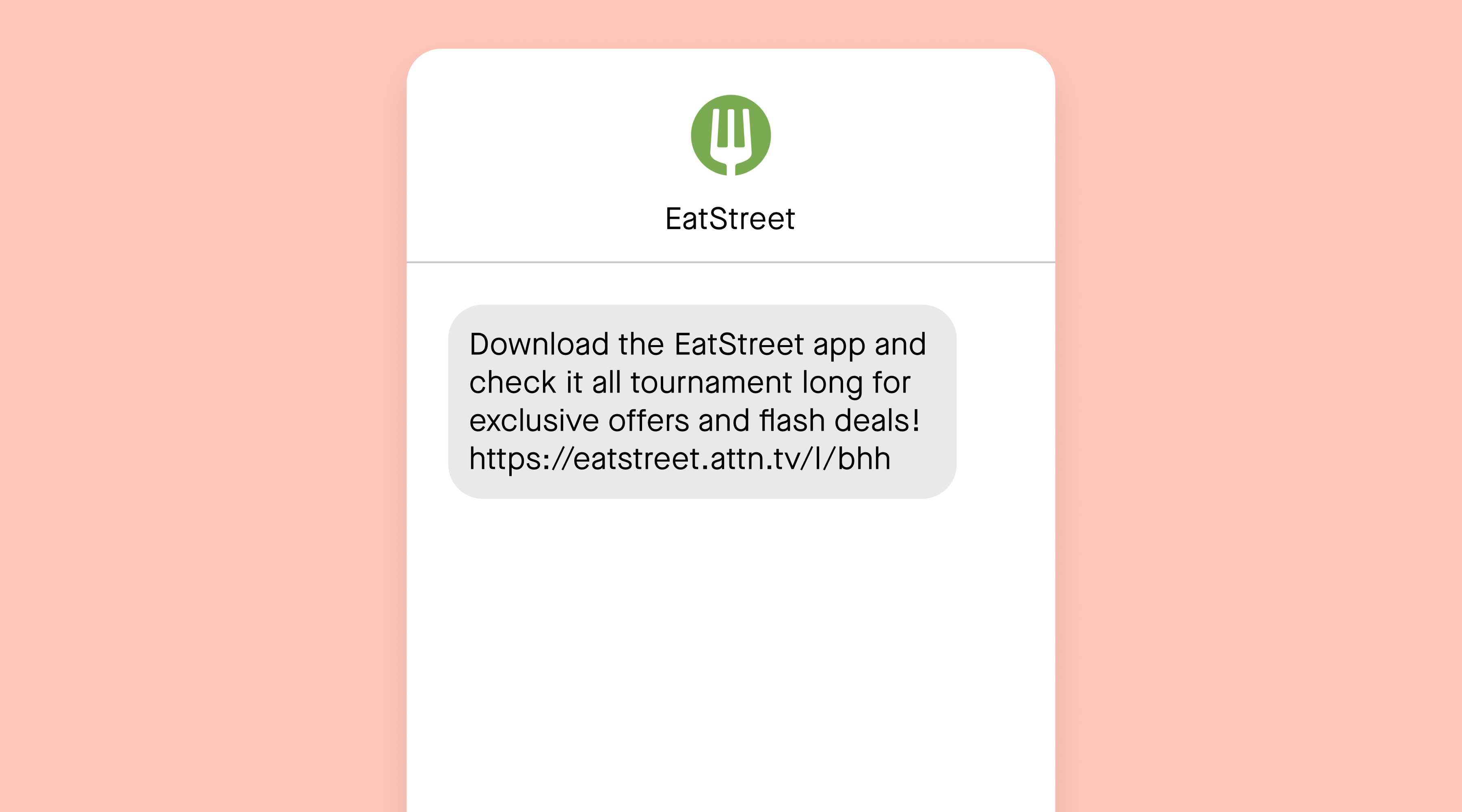 EatStreet app download text