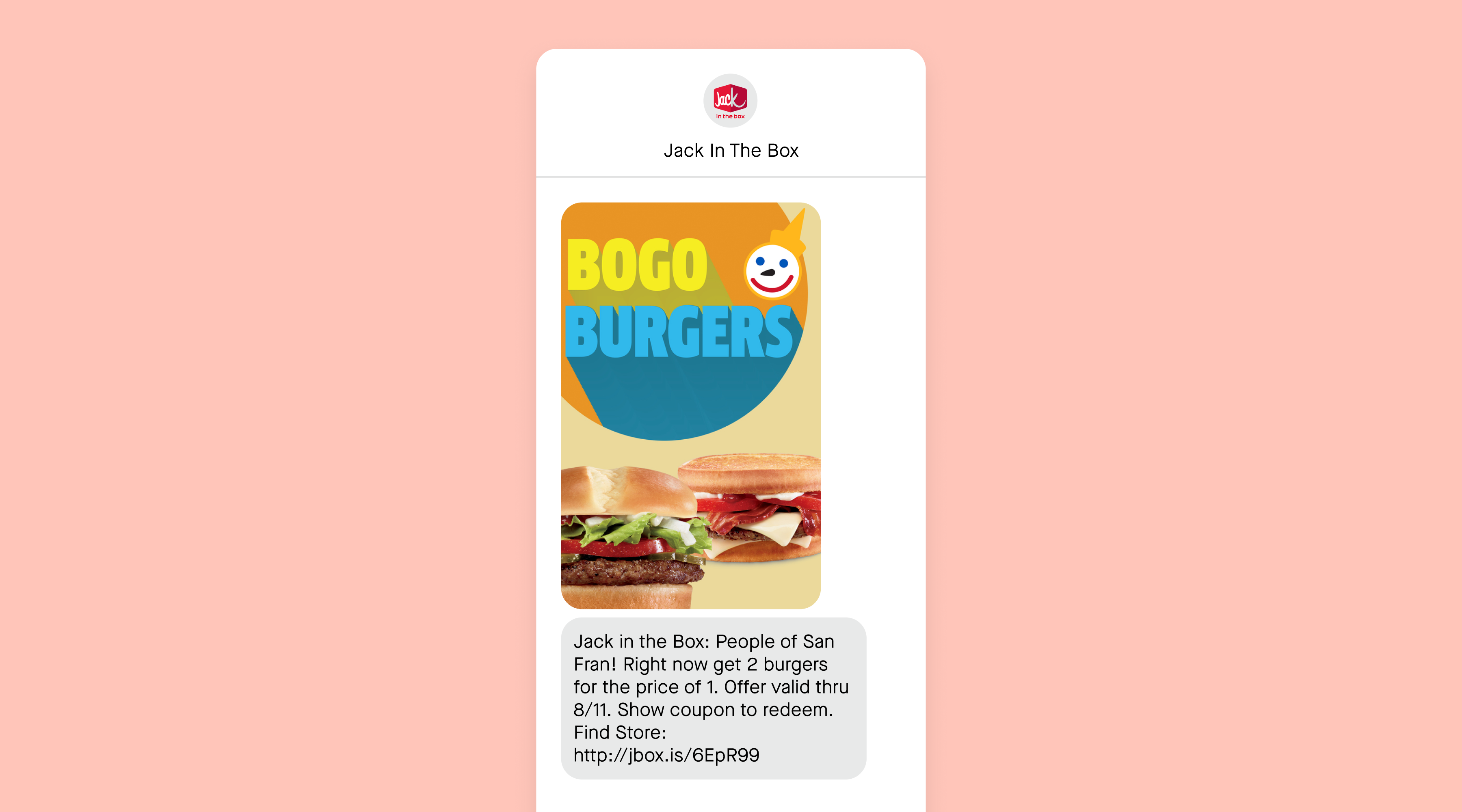 jack in the box BOGo text