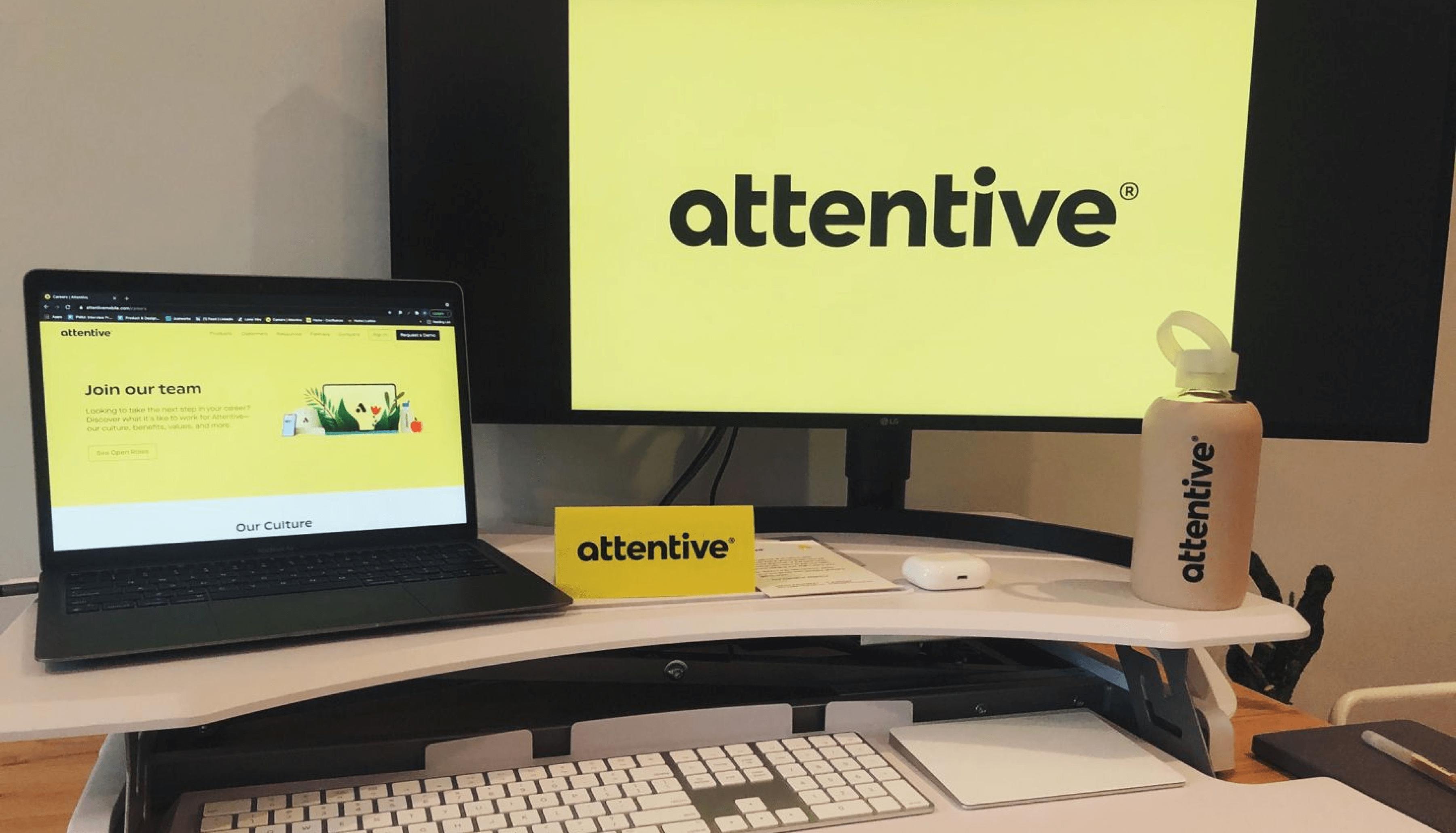Attentive home office setup