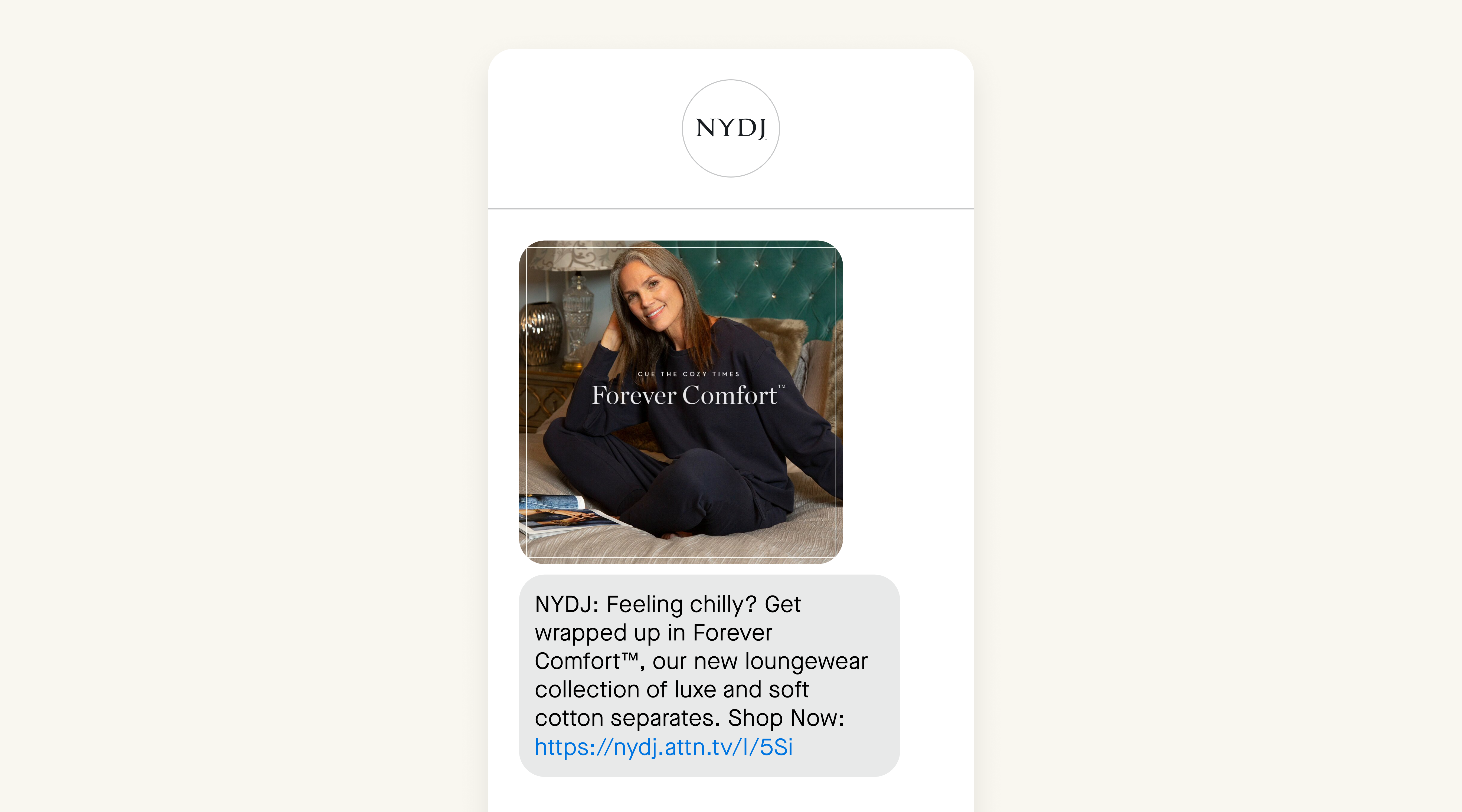 NYDJ SMS example loungewear collection
