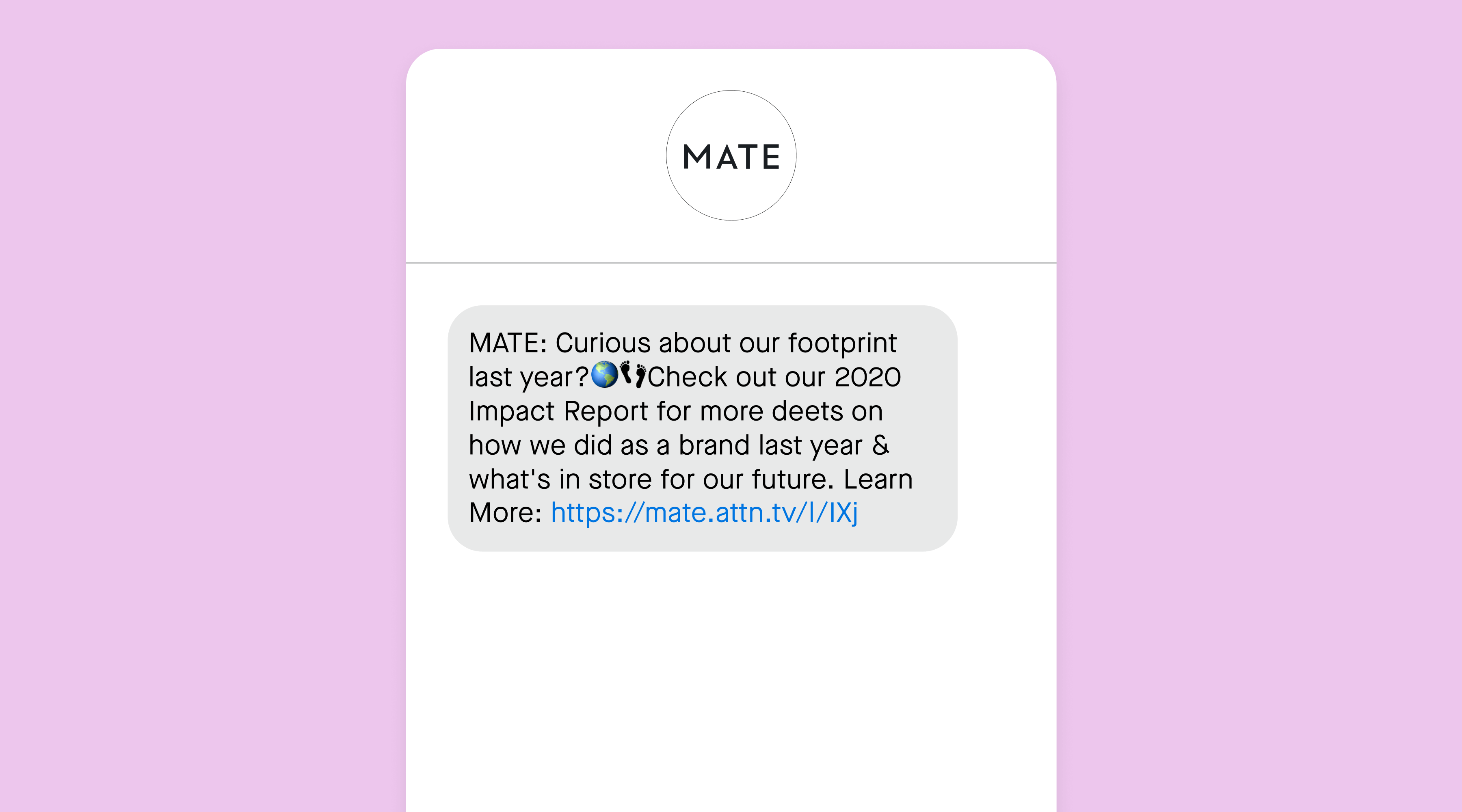 MATE example text