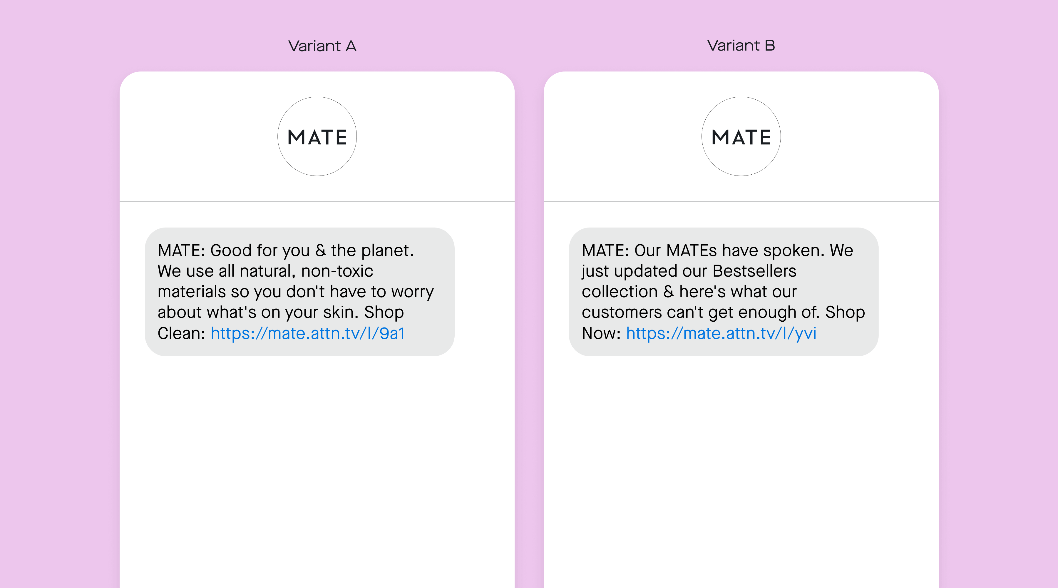 MATE a/b testing
