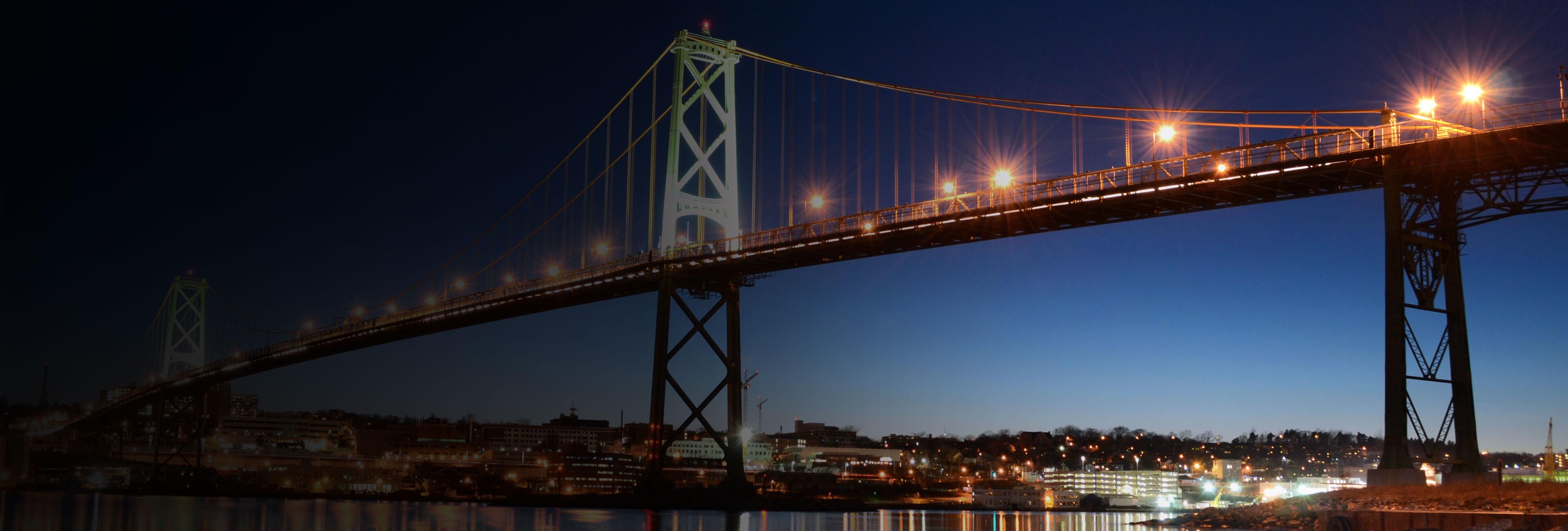 Bridge between Dartmouth and Halifax Nova Scotia