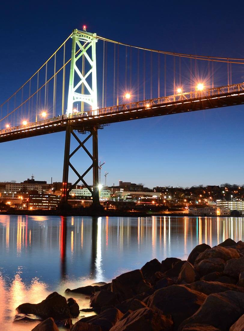 Bridge between Dartmouth and Halifax Nova Scotia