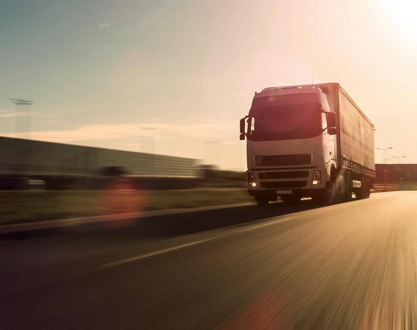 transport truck on road