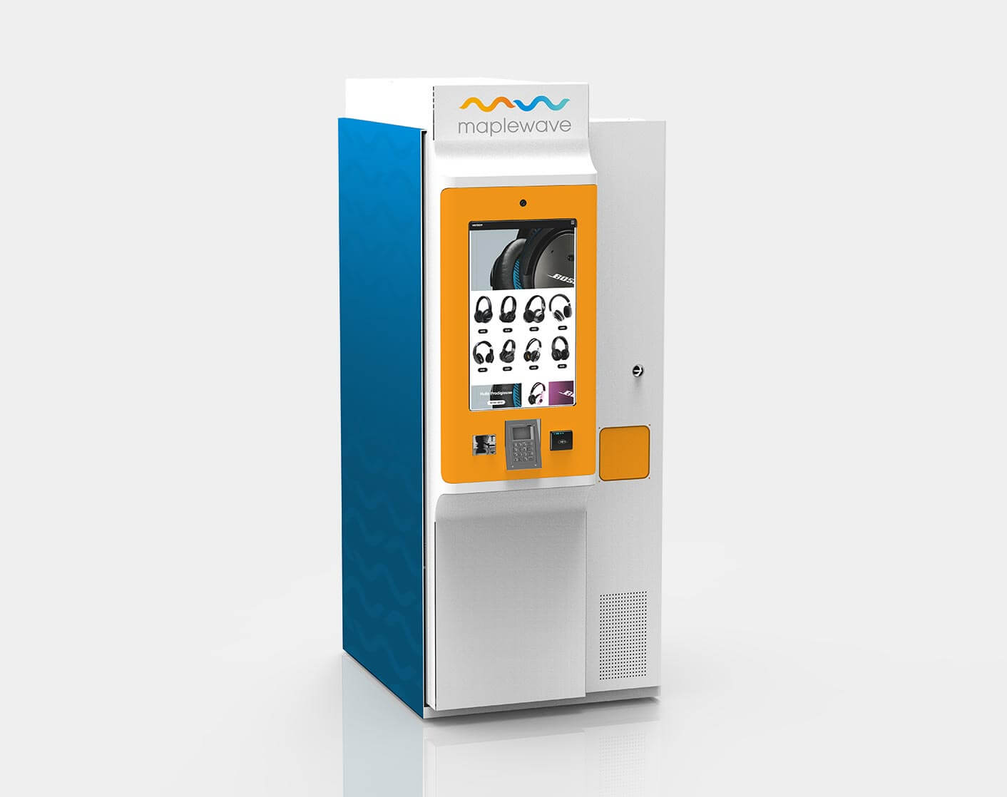 Kiosk with concealed vending machine