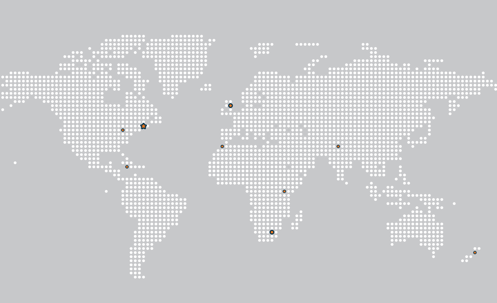 map of the world outlining Maplewave offices in Canada, United Kingdom, South Africa, Morocco, Jamaica, Kenya and New Zealand