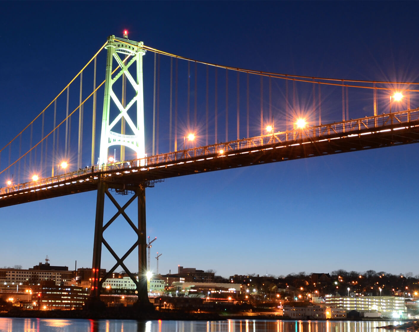 image of a bridge between Dartmouth and Halifax Nova Scotia