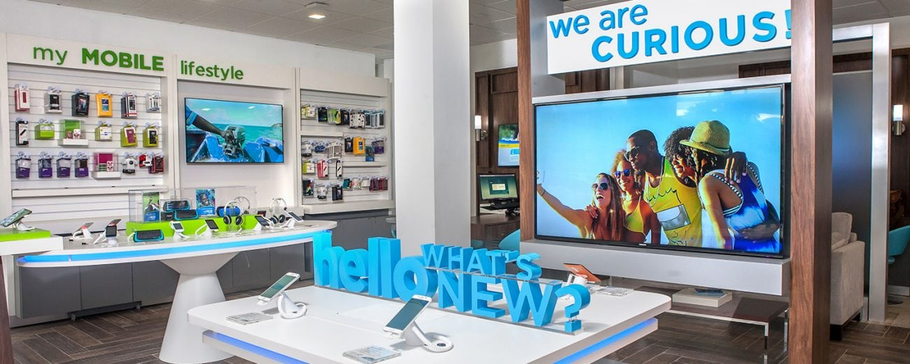 Image inside a Flow telco store