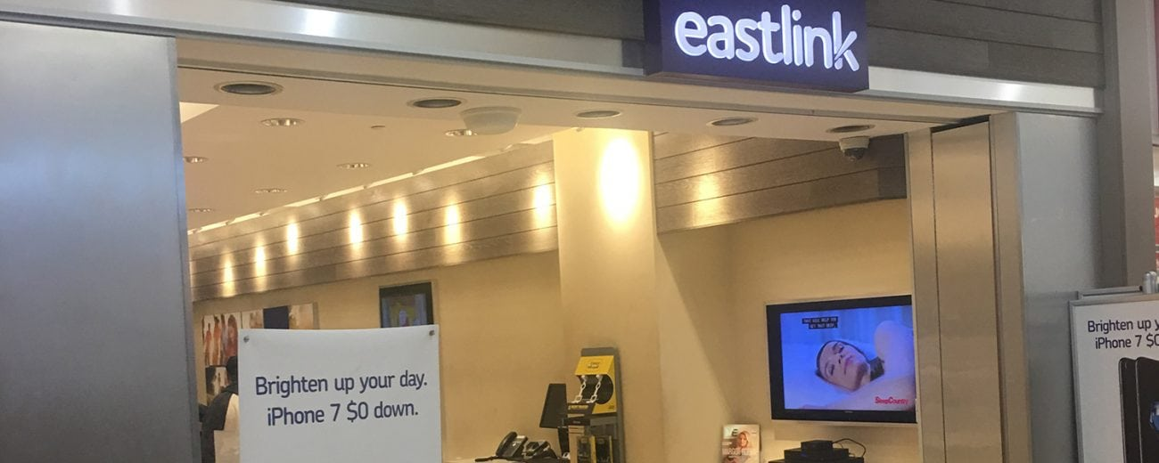 Eastlink store sign in a mall