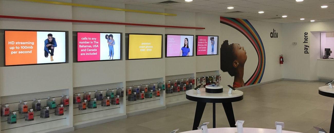 Inside Aliv telco store