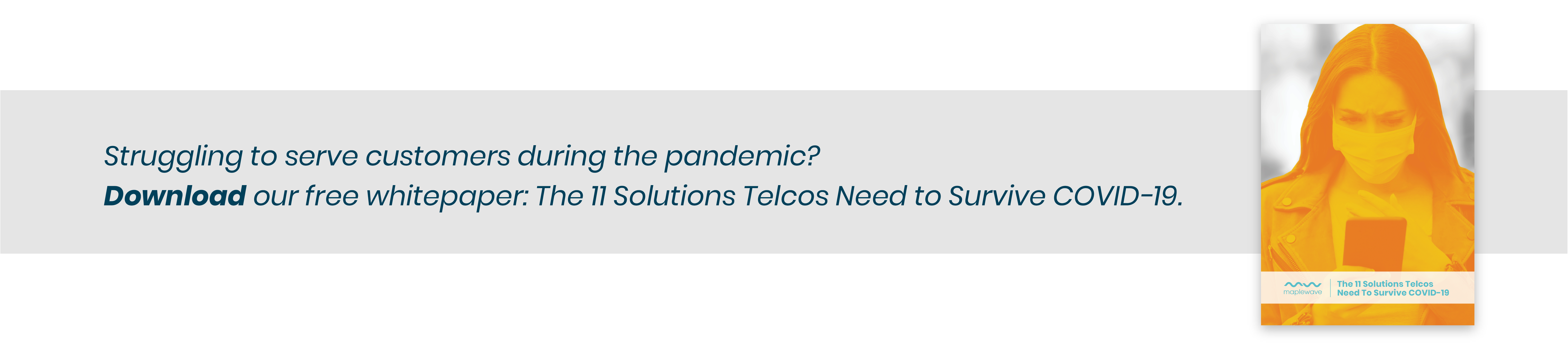 Cover of The 11 Solutions Telcos Need to Survive Covid-19