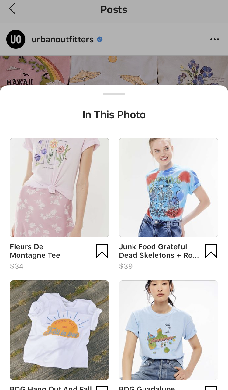 Screen grab of clothing on a clothing website displayed on a phone