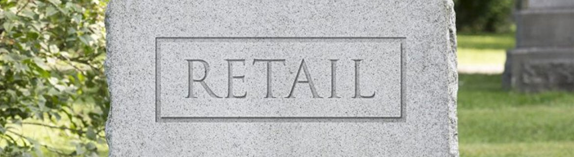 headstone with the word Retail on it