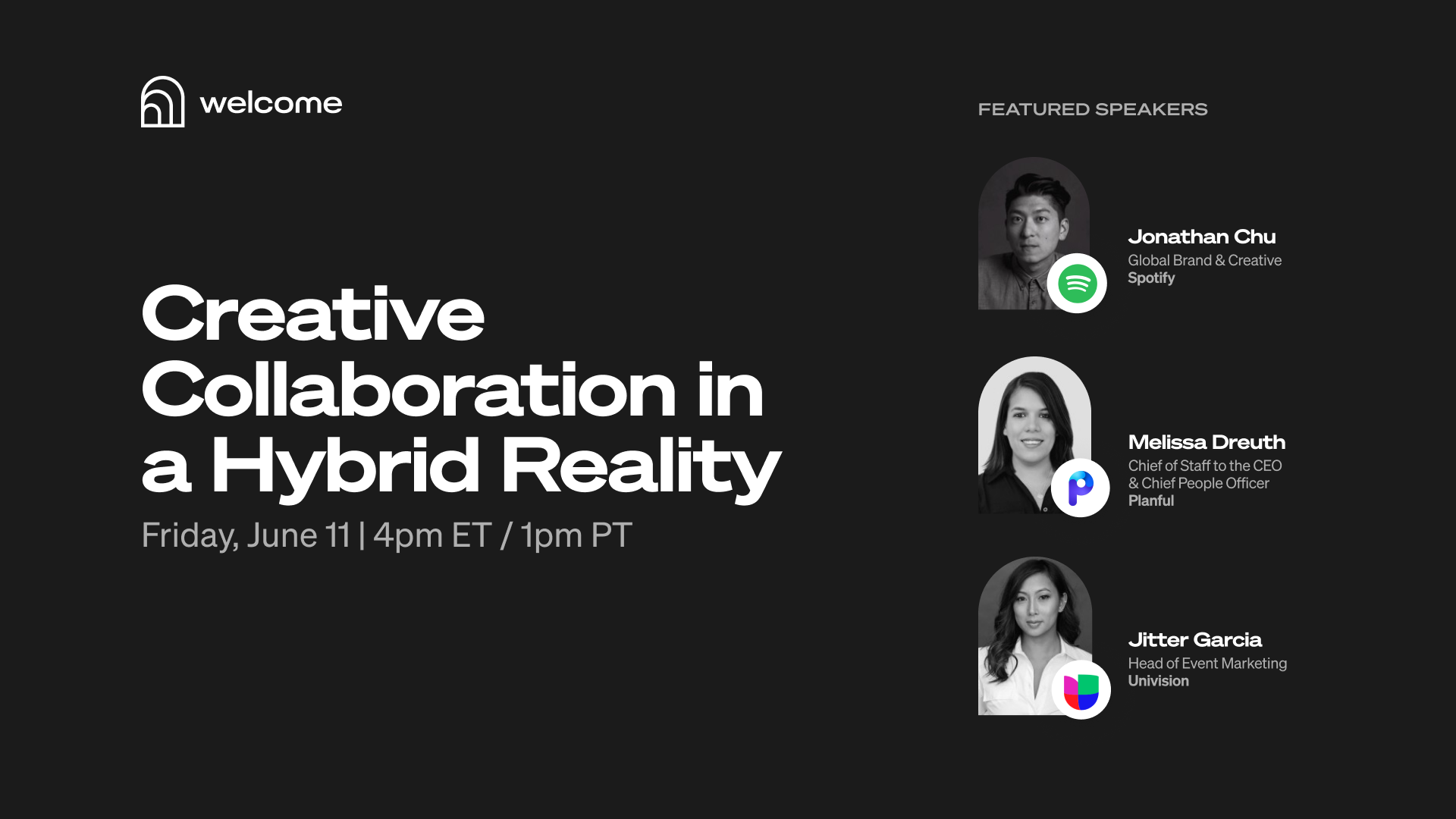 Creative Collaboration in a Hybrid Reality event information graphic