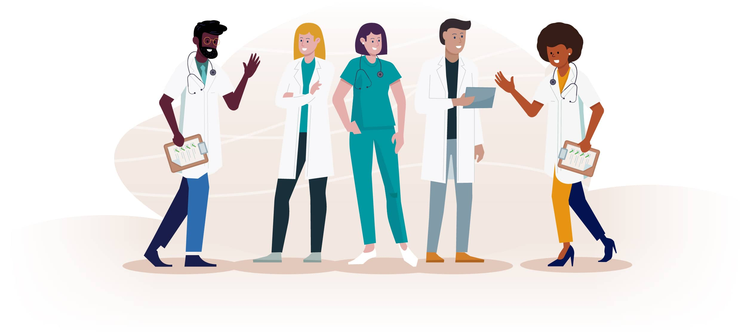 Illustration of people in the medical field