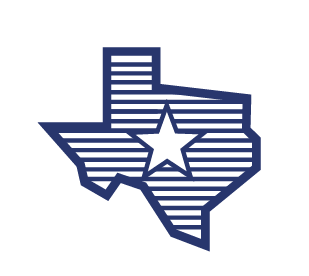 Icon to state of Texas, patterned with the Texas flag