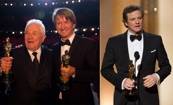 David Seidler, Tom Hooper, Colin Firth win for The King's Speech at the Academy Awards