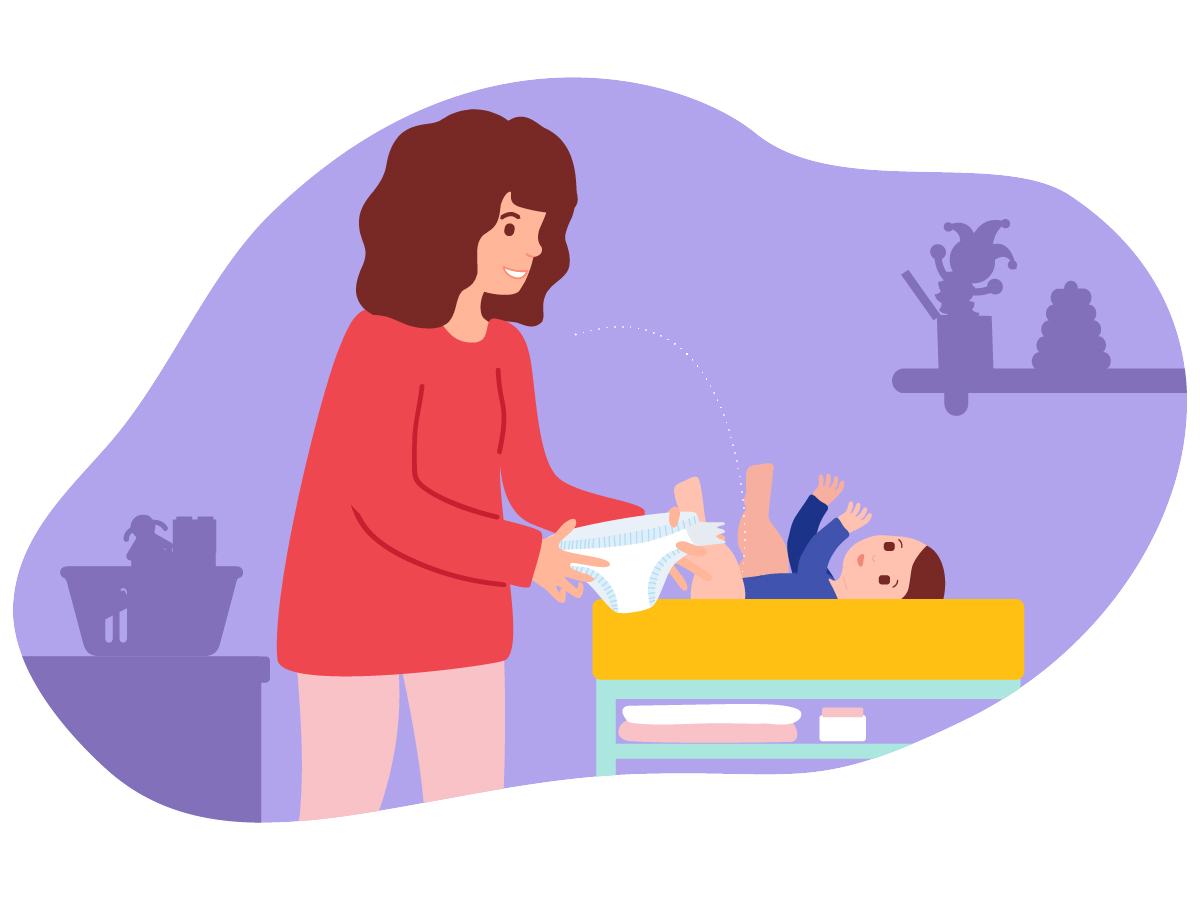 How a good diaper change tells babies about the world