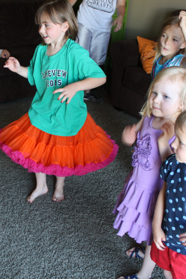 Picture of young girls dancing