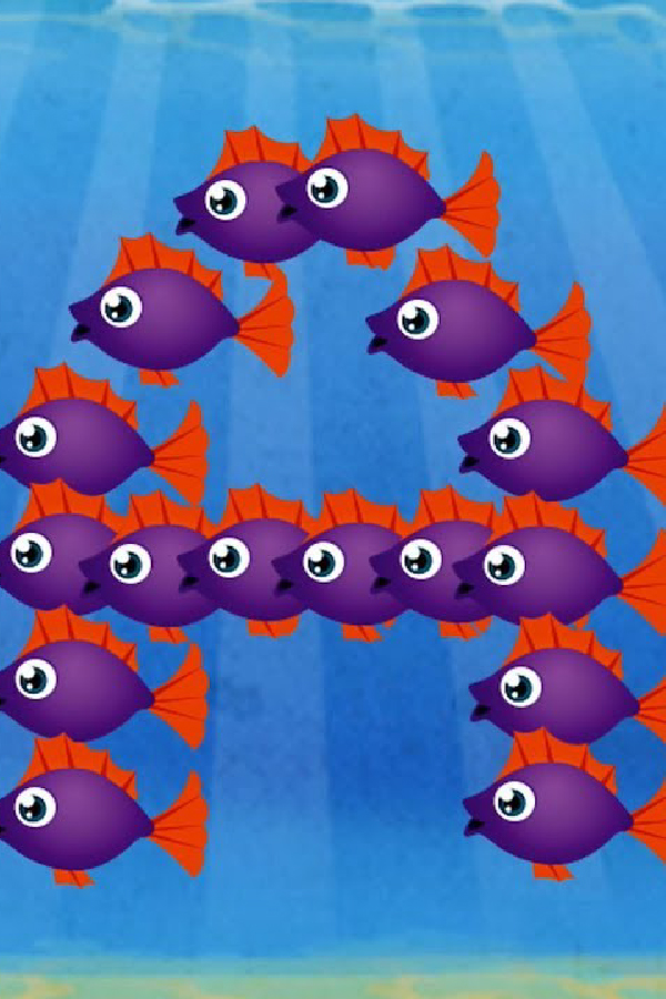 pink and red fish in fish school app