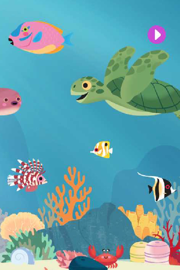 marcopolo app with turtles and fish under the sea