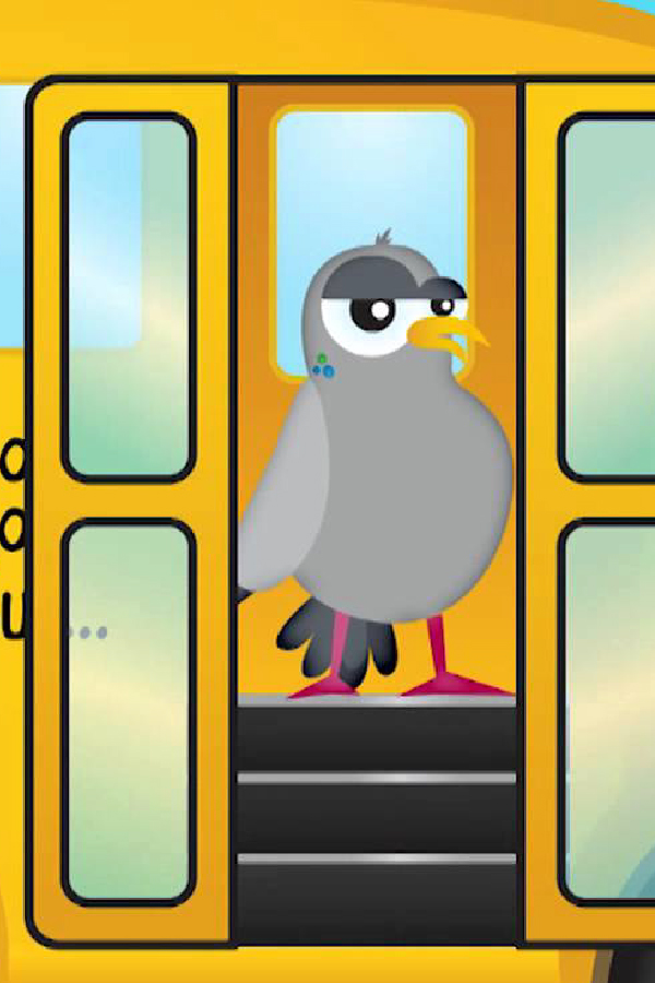 bird on yellow school bus wheels on the bus app
