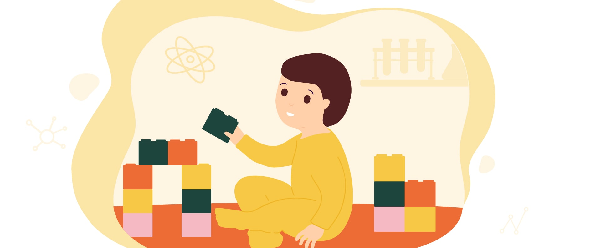 Tomorrow's top scientists are playing with wooden blocks