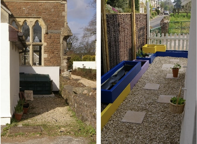 Early years outdoor space before and after