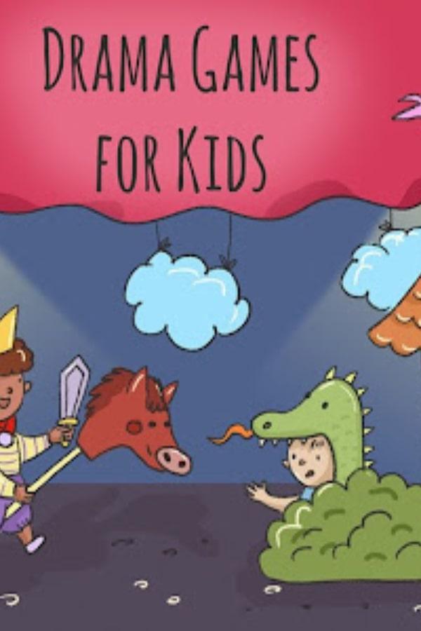 drama games for kids illustration