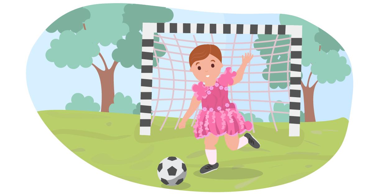 Any child can wear a princess dress