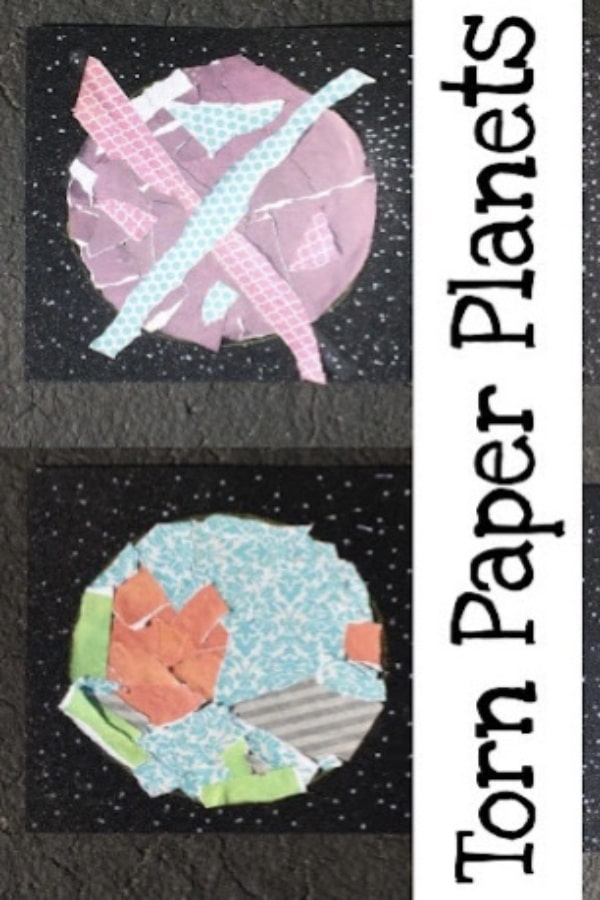Torn paper planets