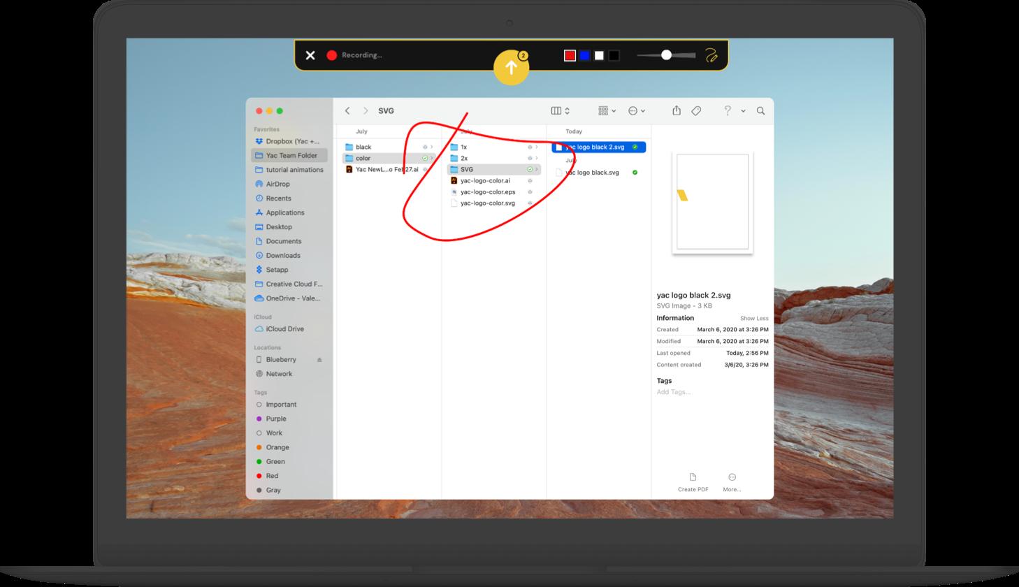 yac v3 screensharing on macbook