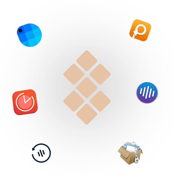 Setapp logo with apps from the Yac Remote Work Pack