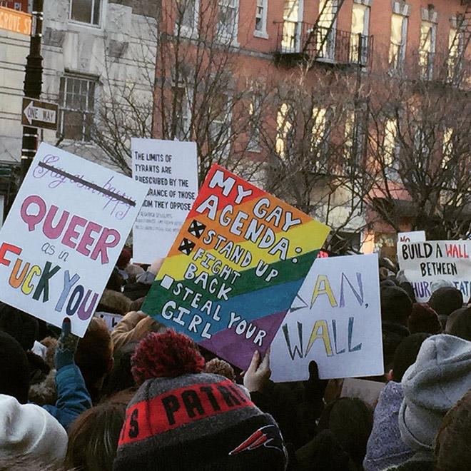 gay agenda sign