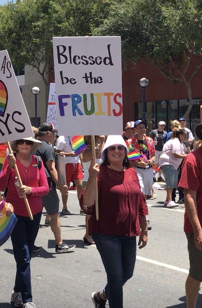 sign that reads blessed be the fruits