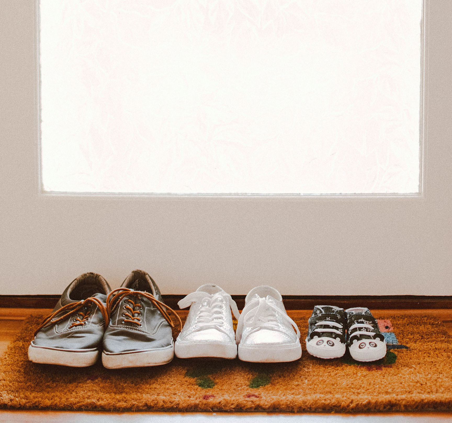 Family Shoes Lined Up
